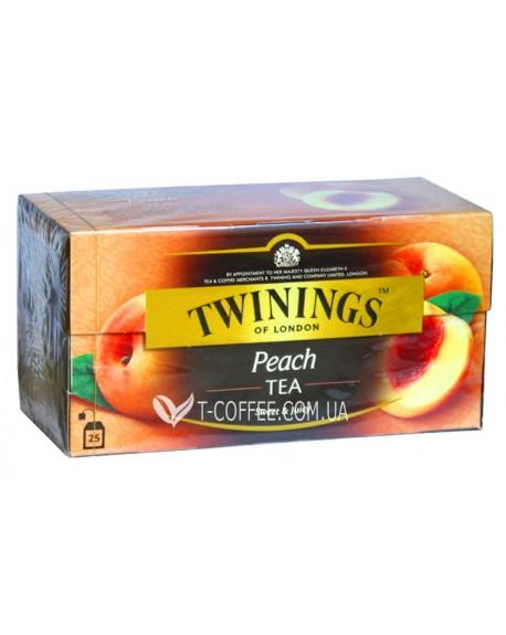 Чай TWININGS Peach Tea Персик 25 х 2 г (070177055639)