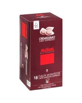 Кофе MUSETTI Cremissimo в монодозах (чалдах, таблетках) 18 х 7 г (8004769255123)