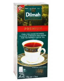Чай DILMAH Premium Ceylon Tea Преміум Цейлонський 25 x 2 г (931263122633)