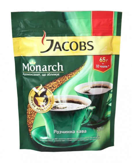 Кофе Jacobs Monarch растворимый 65 г эконом. пак.
