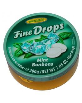 Леденцы FINE DROPS Mint Bonbons Мята 200 г (9002859064104)