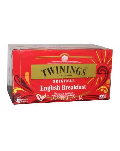 Чай TWININGS English Breakfast Английский Завтрак 25 х 2 г (070177077693)