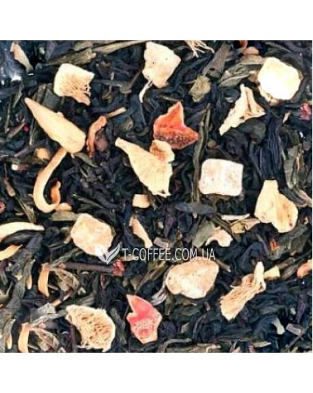 Сочный Манго купаж черного и зеленого чая Країна Чаювання 100 г ф/п