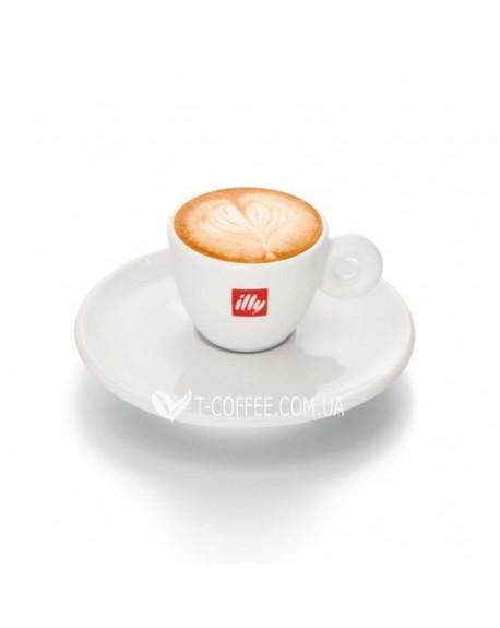 Чашка с блюдцем illy для американо фарфоровая 120 мл