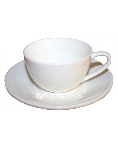 Чашка с блюдцем Wilmax для каппуччино фарфоровая 180 мл