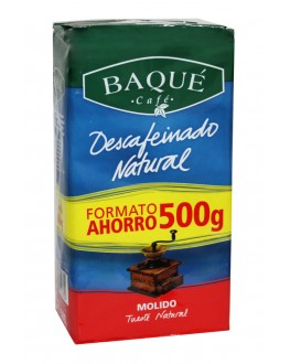 Кава CAFE BAQUE Descafeinado Natural без кофеїну мелена 500 г (8410684243709)