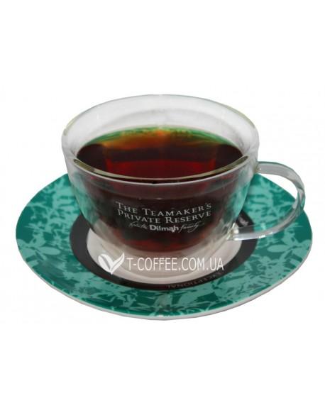 Чашка с блюдцем DILMAH Private Reserve стеклянная 200 мл