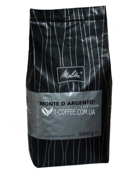 Кофе Melitta Monte d'Argento Cafe Creme зерновой 1 кг (4024472008575)