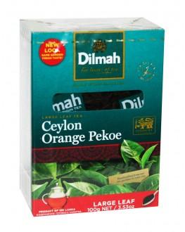 Чай DILMAH Ceylon Orange Pekoe Цейлон Оранж Пеко 100 г (9312631122275)