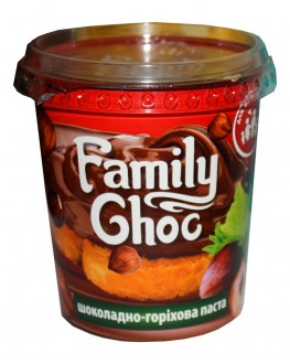 Шоколадно-горіхова паста FAMILY CHOC 400 г (4820175572098)