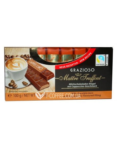 Шоколад Maitre Truffout Grazioso Cappuccino Капучино 8 x 12,5 г (9002859036620)