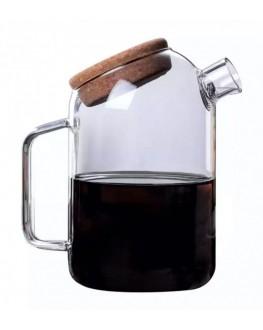 Глечик скляний Ґудзик з корковою кришкою 1200 мл (6910048023760)