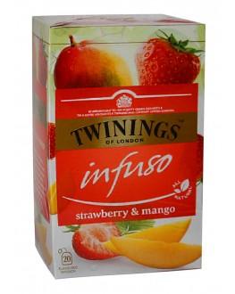 Чай TWININGS Infuso Strawberry Mango Полуниця Манго 20 х 2 г (070177177676)