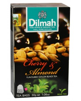 Чай DILMAH Black Tea Cherry Almond Вишня Мигдаль 20 x 1,5 г (9312631142082)