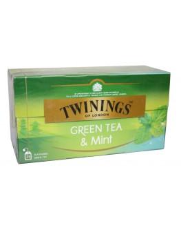 Чай TWININGS Green Tea Mint Зелений М'ята 25 х 1,5 г (070177173203)