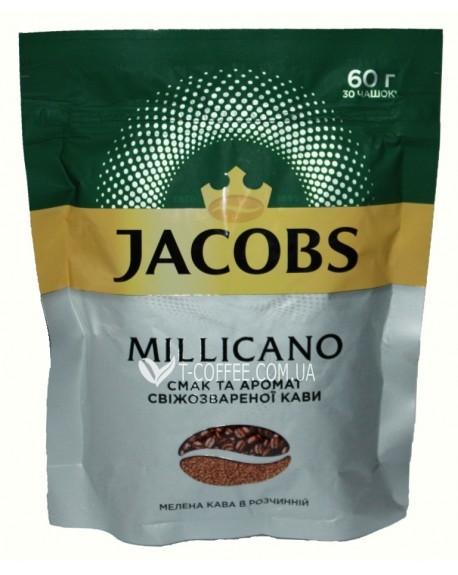 Кофе Jacobs Millicano цельнозерновой растворимый 60 г эконом. пак. (4820187046440)