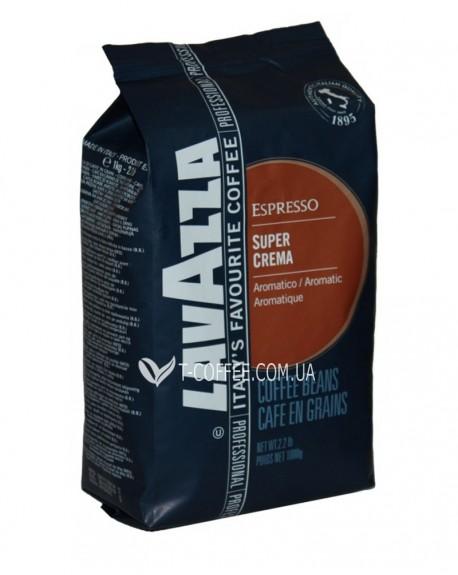 Кофе Lavazza Espresso Super Crema зерновой 1 кг (8000070042025)