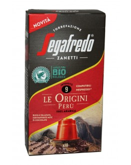 Кофе SEGAFREDO Nespresso Le Origini Peru в капсулах 10 х 5,1 г (8003410243663)