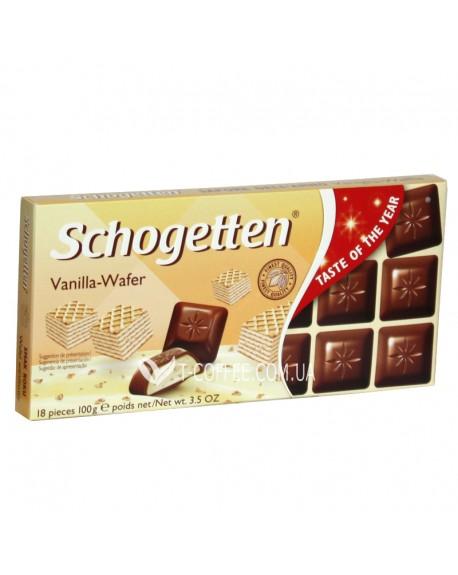 Шоколад Schogetten Vanilla-Wafer Ваниль Вафли 100 г