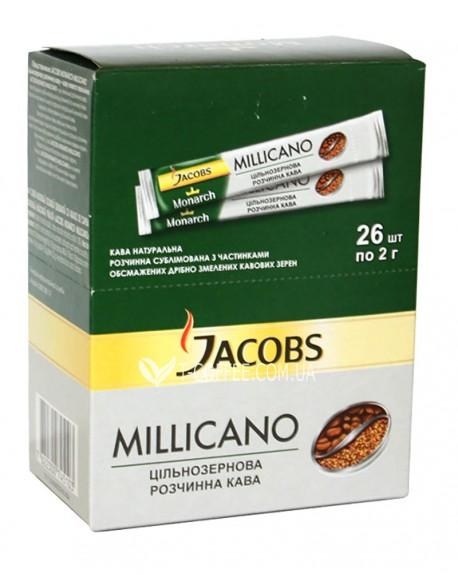 Кофе Jacobs Millicano цельнозерновой растворимый 26 х 2 г (4820206290168)