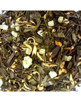Куркума-Апельсин зеленый ароматизированный чай Країна Чаювання 100 г ф/п