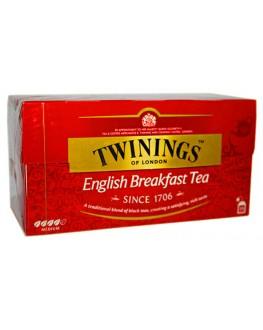 Чай TWININGS English Breakfast Англійський Сніданок 25 х 2 г (070177077693)