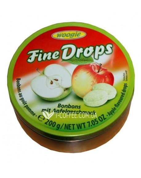 Леденцы Fine Drops Bonbons Apfel Geschmack Яблоко 200 г (9002859090516)