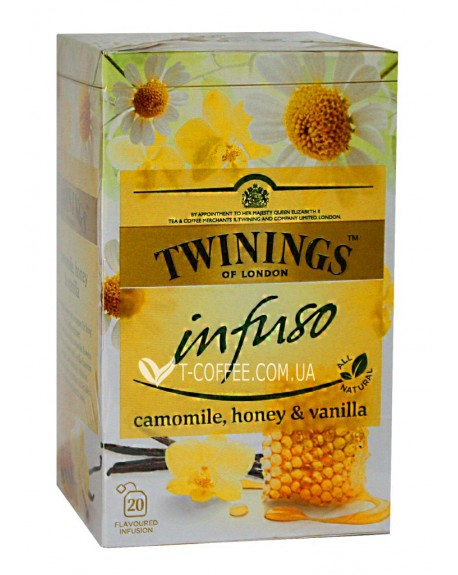 Чай TWININGS Infuso Camomile Honey Vanilla Ромашка Мед Ваниль 20 х 1,5 г (070177177683)