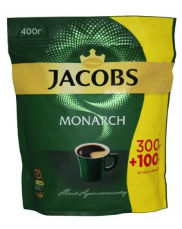 Кофе JACOBS Monarch растворимый 300 г + 100 г эконом. пак. (4820187043128)