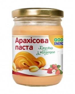 Арахисовая паста GOOD ENERGY Crunch Клубника 250 г (4820175571718)