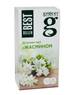 Чай GRACE! Зелений з Жасмином - Бестселер 25 х 1,5 г (5060207697613)