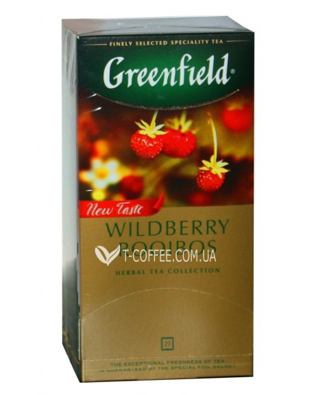 Чай Greenfield Wildberry Rooibos Ягодный Ройбуш 25 х 1,5 г (4823096805832)