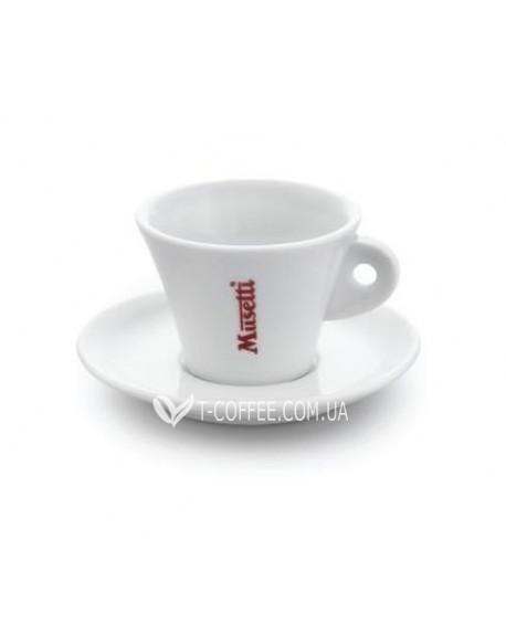 Чашка с блюдцем Musetti для американо фарфоровая 130 мл