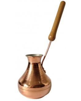 Турка Медная Восточная Красавица с вертикальной ручкой Золото 350 мл