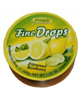 Леденцы FINE DROPS Zitronen Bonbons Лимон 200 г (9002859055591)