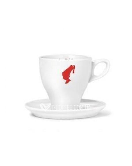 Чашка с блюдцем Julius Meinl Меланж фарфоровая белая 120 мл