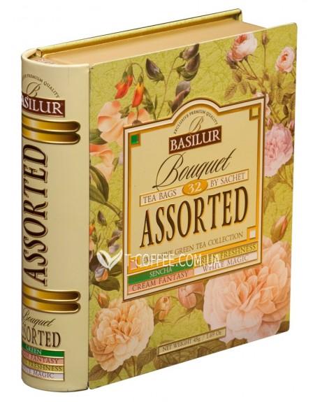 Чай BASILUR Bouquet Букет Ассорти - Пакетированная Книга 32 х 1,5 г ж/б
