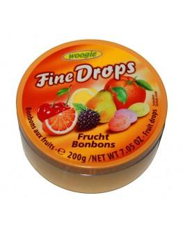 Леденцы FINE DROPS Frucht Bonbons Ассорти Фрукты 200 г (9002859055553)
