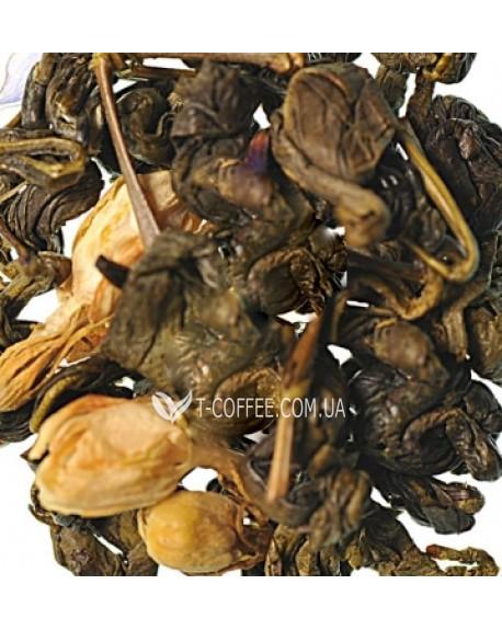 Зеленая Улитка с Ароматом Молока зеленый ароматизированный чай Країна Чаювання 100 г ф/п