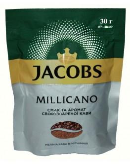 Кава JACOBS Monarch Millicano цільнозернова розчинна 30 г економ. пак. (4820206290267)