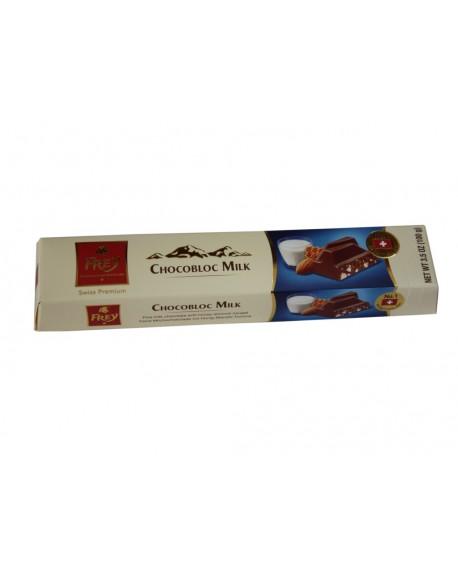 Шоколад Frey Chocobloc Milk Молочный с медово-миндальной нугой 100 г