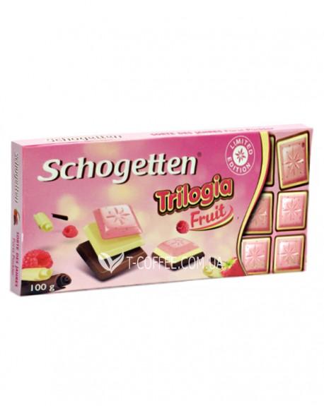 Шоколад Schogetten Trilogia Fruit Трилогия Малина 100 г