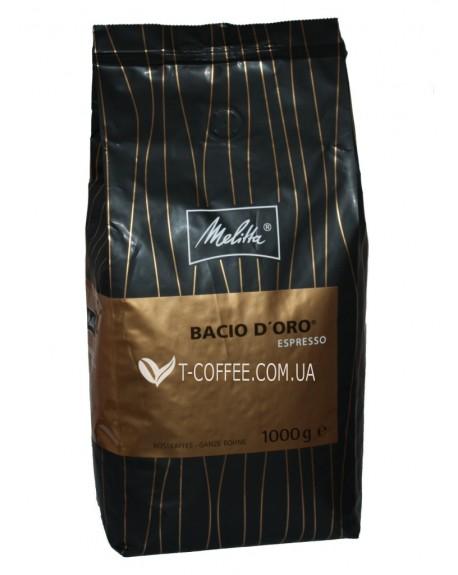 Кофе Melitta Bacio d'Oro Espresso зерновой 1 кг (4024472008643)