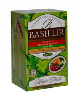 Чай BASILUR Assorted Green Tea Асорті Зелений Чай - Чарівні Фрукти 20 х 1,5 г (4792252935655)