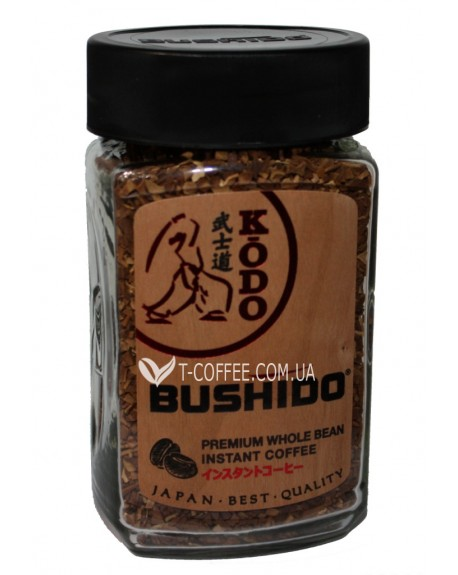 Кофе Bushido Kodo цельнозерновой растворимый 95 г ст. б. (5060367340176)