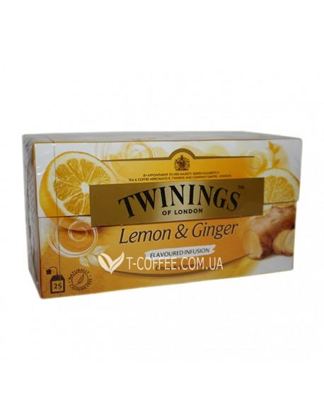 Чай TWININGS Lemon Ginger Лимон Имбирь 25 х 2 г