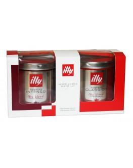 Набір кави ILLY Moka для турки, гейзерної кавоварки мелена 2х125 г к/п (8003753153902)