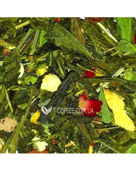 Джинджер-Лайм зеленый ароматизированный чай Країна Чаювання 100 г ф/п
