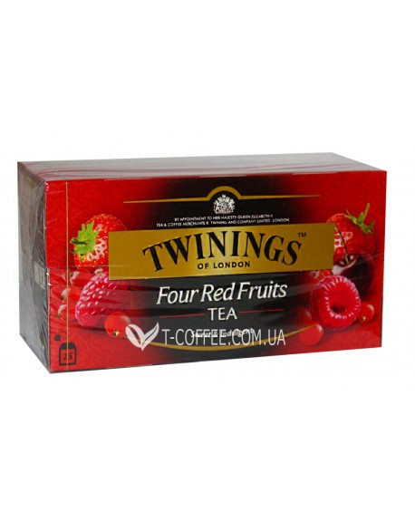 Чай TWININGS Four Red Fruits Четыре Красные Ягоды 25 х 2 г (070177025953)