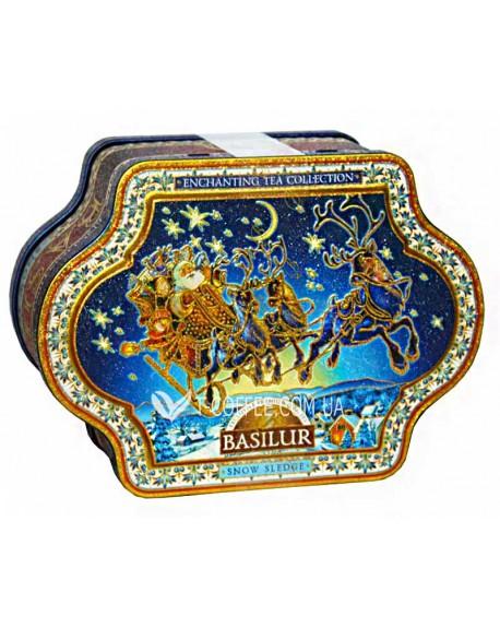 Чай BASILUR Snow Sledge Санки - Чарующая Коллекция 100 г ж/б (4792252923911)